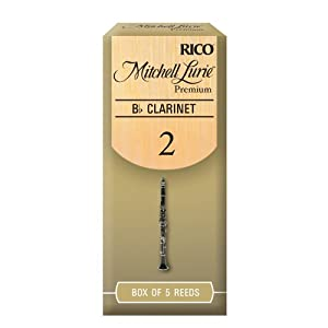 Rico Mitchell Lurie Premium 2.0 Strength Reeds for Bb Clarinet (Pack of 5)
