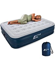 Active Era Premium Double Air Bed - Elevated Inflatable Air Mattress, Built-in Electric Pump, Raised Pillow & Structured Air-Coil Technology