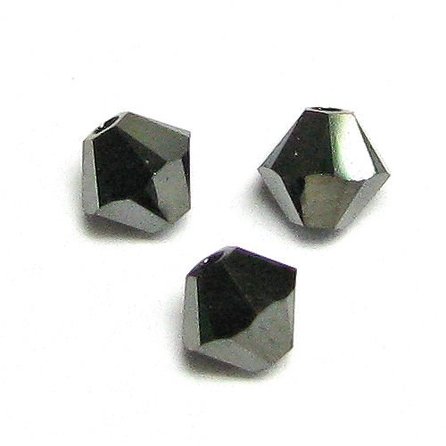 72 pcs Swarovski Elements 5328 Xilion Bicone Crystal Jet Nut AB 2X 4mm / Findings / Crystallized Element (Nut Swarovski Jet Crystal)