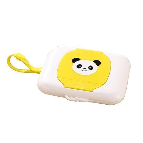 Ogquaton Toallitas para beb/és Caja dispensadora de Viaje Caja de pa/ñuelos h/úmedos port/átil Patr/ón de Panda Toallitas h/úmedas de pl/ástico Contenedor de Transporte /Útil y pr/áctico
