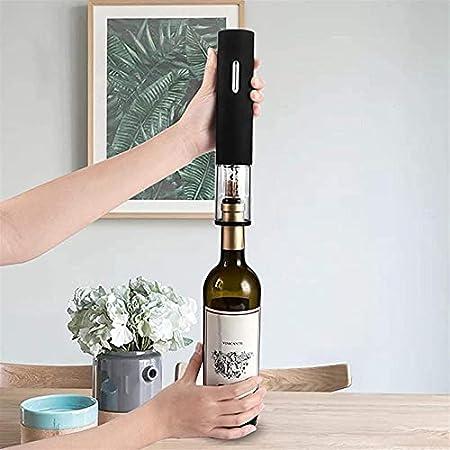 Juego de abrebotellas de vino eléctrico sacacorchos – abridor automático de sacacorchos inalámbrico con cortador de aluminio tapón de vacío