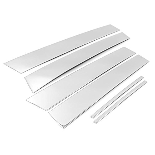 Sizver Chrome Stainless Steel Pillar Posts Accent Covers For 2011-2015 Dodge Charger 6pcs ()