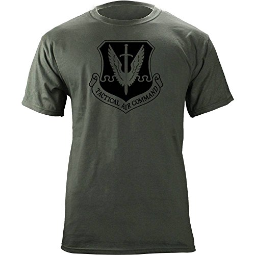 Tactical Air Command Subdued Veteran Patch T-Shirt (X-Large, -