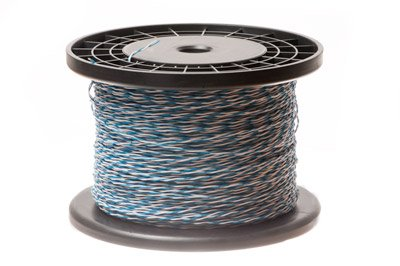 Cross Connect Wire - 1 Pair - Cat5e Rated - Blue/White - BL/W-W/BL - 1000 FT (250 Audio Interconnect)