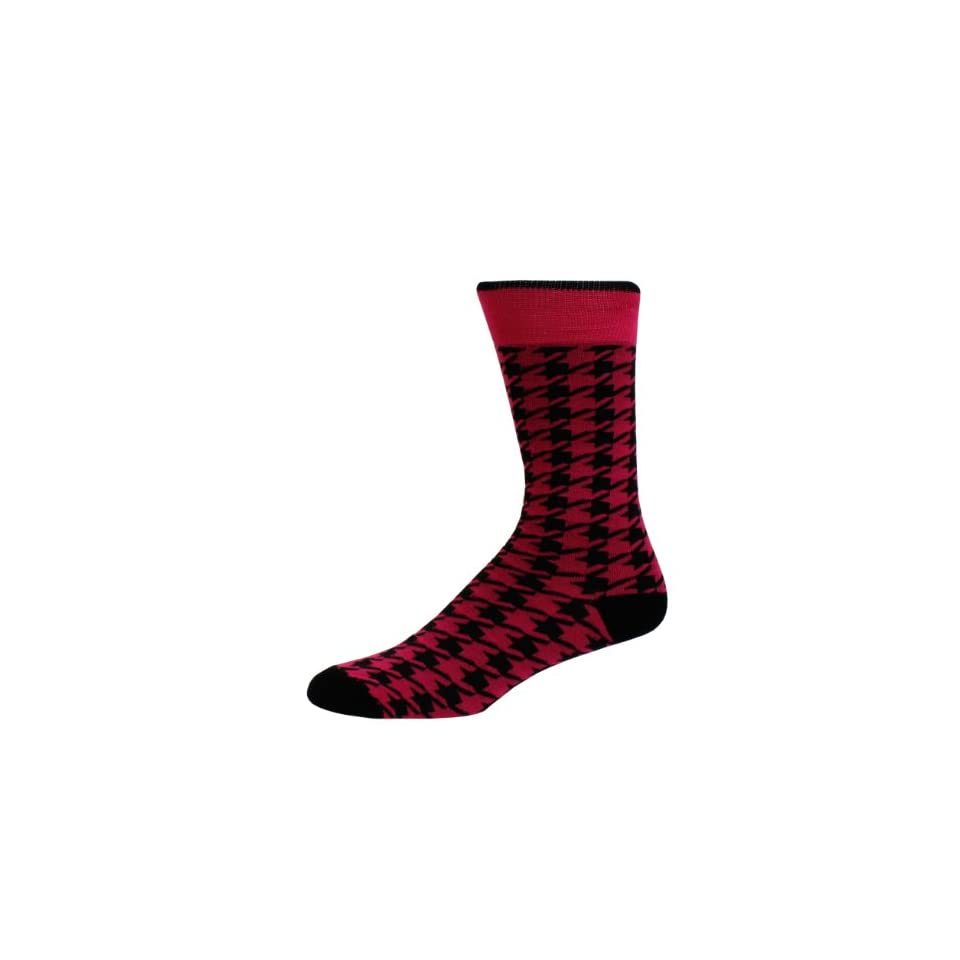Man of Means Houndstooth Mens Dress Socks Men's Sock Color Magenta at  Men's Clothing store