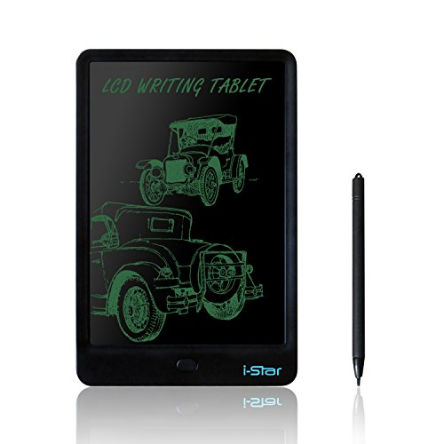 LCD Writing Tablet, i-Star 10 inches Lock Electronic Drawing Painting Board, Paper-Free, Portable Doodle Handwriting Notepad Gift for Kids Adults Designer Office House, Black by I-STAR (Image #7)