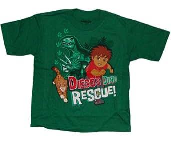 Nickelodeon Go Diego Go! Dino Rescue Little Boys T-shirt (2T, Green)