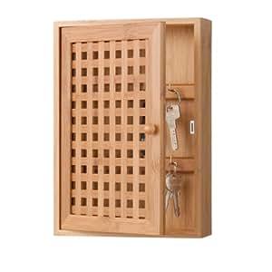 Zeller 13876 - Armario para llaves de bambú (19 x 6 x 27 cm)