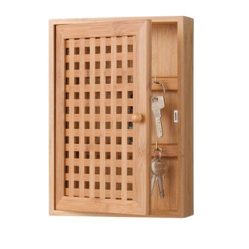 Zeller 13876 Schlüsselkasten 19 x 6 x 27 cm, Bamboo