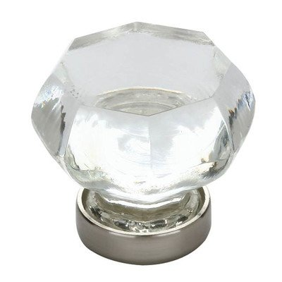 - Old Town Crystal Knob Finish: Bright Nickel, Size: 1.25