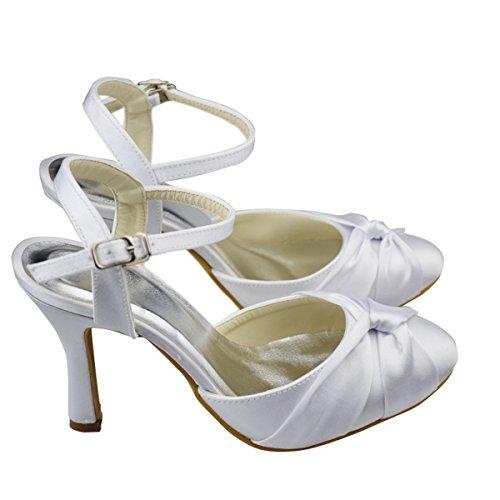 femme Bride blanc Blanc Minitoo cheville de qRwtZp1
