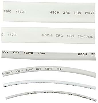 Lote de 100 fundas termoretráctiles, color blanco