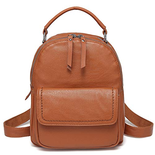 Mini Backpack Purse,ChaseChic Cute Flap Front Pocket Convertible Women Backpack Shoulder Bag for Women,Teen Girls Brown -