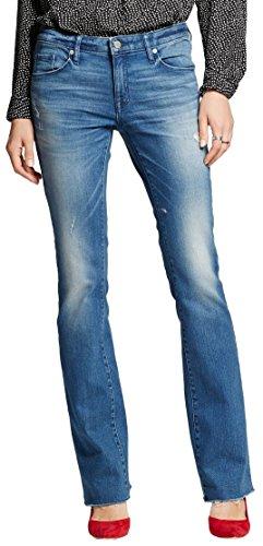 Mossimo Women's Mid-rise Skinny Bootcut Jeans (14/32 Regular, Medium Denim Wash) (Skinny Boot Jeans Cut)