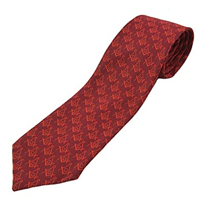 Masonic Exchange Red Square and Compass Tie for the Freemason