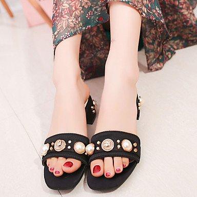 UK5 Blushing EU38 5 1 1In 3 Sandals Imitation Summer Spring 5 Pink Comfort CN38 Women'S Army Dress Comfort 4In RTRY Chunky Black Heel Pearl US7 Green Pu 7UBSTqTg