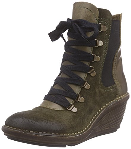 FLY London SUZU - Botas mujer multicolor - Multicolore (Sludge/Olive 002)