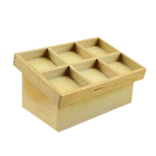 Dimart Family Kitchen Fruits Vegetables Stand Mount - 1;12 Dollhouse Miniature Accessories - Wood