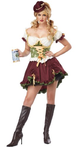 [California Costumes Women's Eye Candy - Beer Garden Girl Adult, Burgundy/Green, Large] (Candy Woman Costumes)