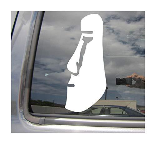 (Right Now Decals - Moai Easter Island Statue - Rapa NUI Polynesia - Cars Trucks Moped Helmet Hard Hat Auto Automotive Craft Laptop Vinyl Decal Window Wall Sticker 08079 )