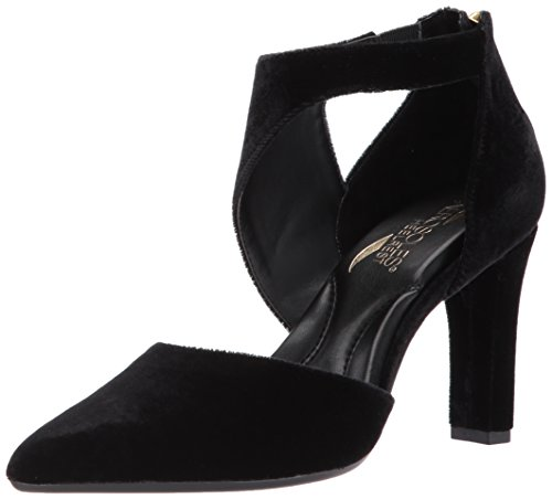 Leather And Velvet Pump - 3