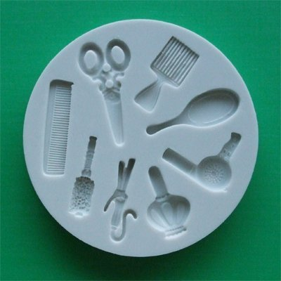 Hairdressing - Silicone Icing Moulds for Cake and Cupcake Decoration