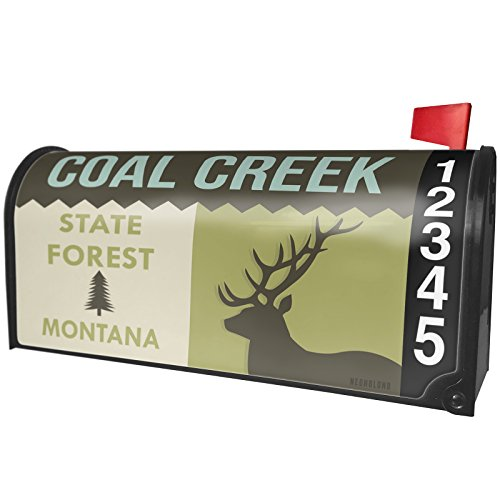 Neonblond National Us Forest Coal Creek State Forest Magnetic Mailbox Cover Custom Numbers