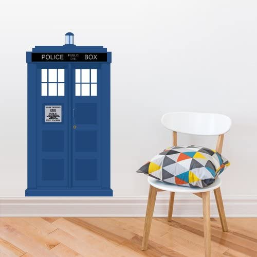 Wall Decal Doctor Who Tardis Quote Time Travels Police Box Dorm Bedroom M1626