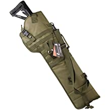 CyberDyer Outdoor Military Tactical Rifle Long Carry Bag Scabbard Gun Protection Case Backpack Molle Ambidextrous Padded Gun Case