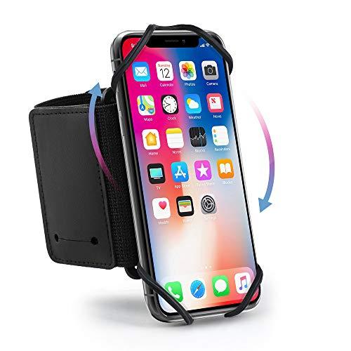 Hianjoo Sportarmband voor mobiele telefoon, 360 graden draaibaar, compatibel met alle smartphones van 4-6,5 inch…