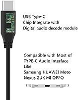 Soundtrue around-ear QC25 funziona con Apple II cuffie con microfono e controllo del volume nero, 1,7/m Android dispositivo USB-C cavo audio per Bose QuietComfort QC35 Geekria Quickfit tipo C