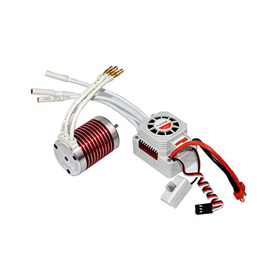 Waterproof Brushless Motor Kit - 4 Pole 12 Slot High Torque Motor, Upgrade Waterproof F540 3930KV Brushless Motor with 45A Brushless ESC for 1/10 Scale RC car (Multicolor)