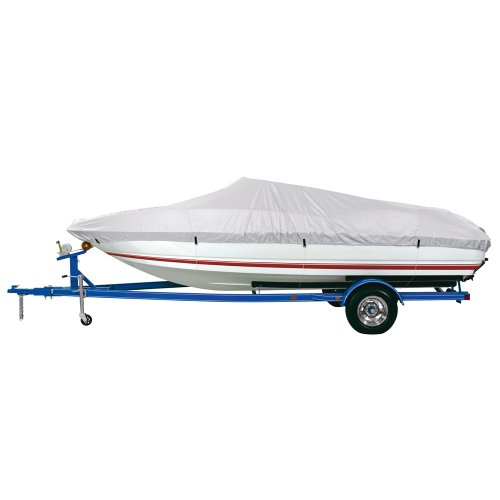 Dallas Manufacturing Co. Reflective Polyester Boat Cover D- 17'-19' V-Hull & Runabouts - Beam Width to 96