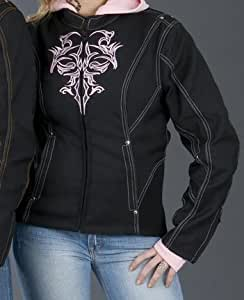 Nexgen Double Nylon Tribal Motorcycle Jacket - Pink Small