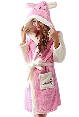 Meledy Women's Winter Cartoon Robe Nightgown Sleepsuit Animal Cosplay Bathrobe