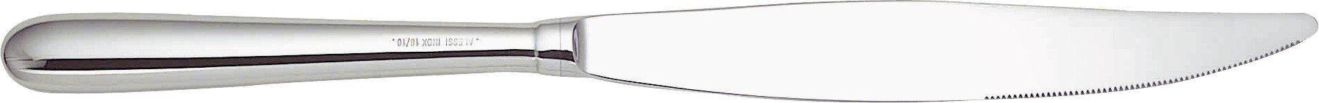 Alessi''Caccia'' Monobloc Dessert Knives in Steel Aisi 420 Mirror Polished (Set of 6), Silver
