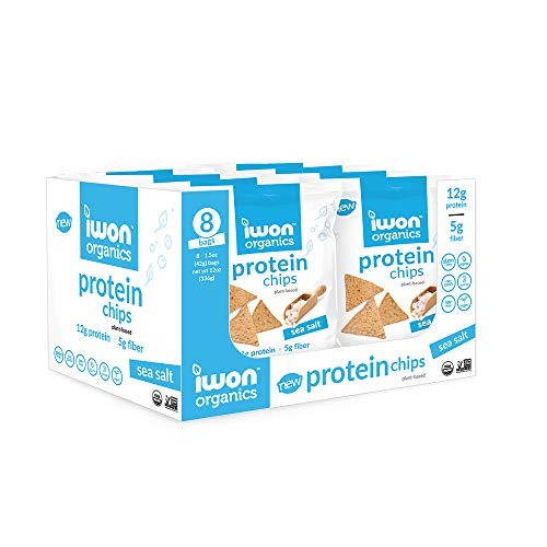 iwon organics Protein Chips - Sea Salt - 8 Bags