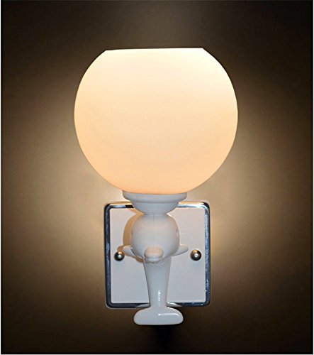 (LED Wall Lights Wall Sconce Light Fixture Up Down Decorative Wall Lighting Single Dual Head Dolphin Glass Wall lamp Hotel Bedside lamp led Engineering Home Light (1D00) )