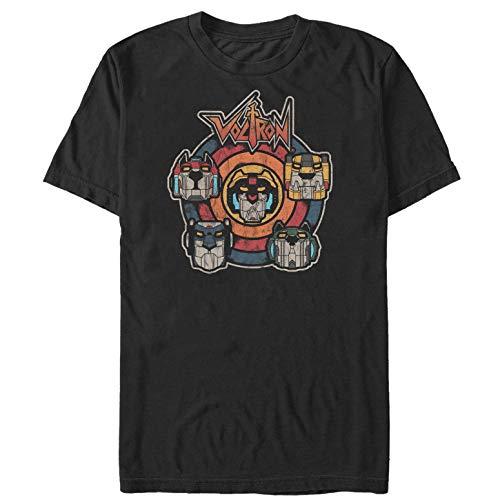 Voltron: Defender of The Universe Men's Retro Lion Target Black T-Shirt