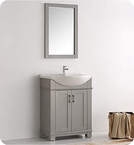 Fresca Hartford 30″ Gray Traditional Bathroom Vanity