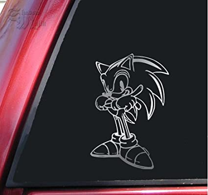 Sonic The Hedgehog Shiny Chrome Vinyl Decal Sticker Decals Magnets Bumper Stickers Amazon Canada