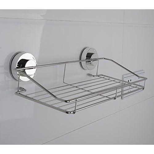 Sucker single square Shelves/Storage racks bathroom toilet/ wall-hung bathroom corner rack-A 30%OFF