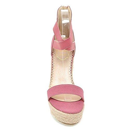 pink Tacon Zanpa Sandalias Mujer de Moda 4 Cuna qET0w7T