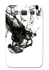 QKZOEQi1900Njigc Improviselike Awesome Case Cover Compatible With Galaxy S3 - Black Smoke