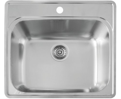 Blanco 441078 Essential kitchen-sinks, 12.00 x 25.00 x 22.00 inches, Stainless Steel, 2 Piece ()