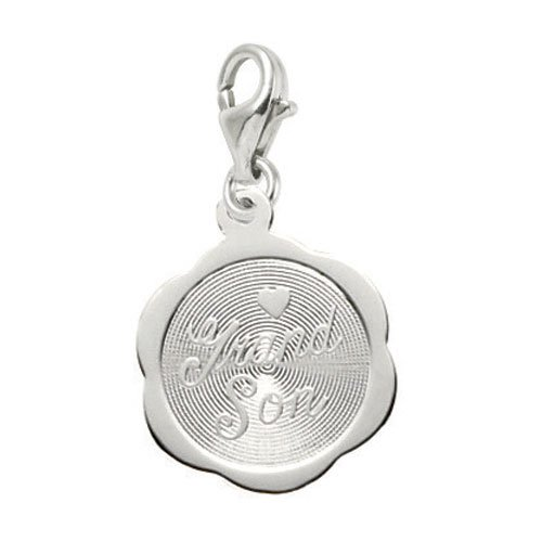 Rembrandt Charms Grandson Charm with Lobster Clasp, Sterling Silver