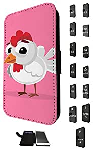 1137 - Cute Fun Chicken Animal Pinky Design Nokia Lumia 520 Fashion Trend TPU Leather Flip Case Full Case Flip Credit Card TPU Leather Purse Pouch Defender Stand Cover