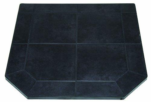 US Stove HS48DLBJT2 American Classics Black Jack Tile Hearth Pad, (Black Pellet Stove)
