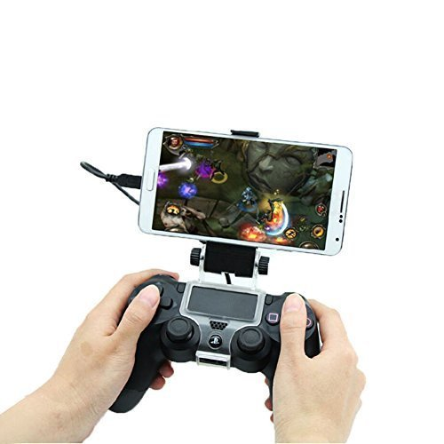 Price comparison product image Chinatera Smart Phone Clip Clamp Mount Holder Stand Bracket for Sony PlayStation 4 PS4 Wireless Controller