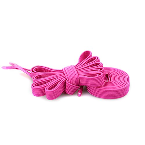 Curley Cord - iSUN No Tie Shoelaces System with Elastic Laces - Magenta - One Size Fits All Adult and Kids Shoes